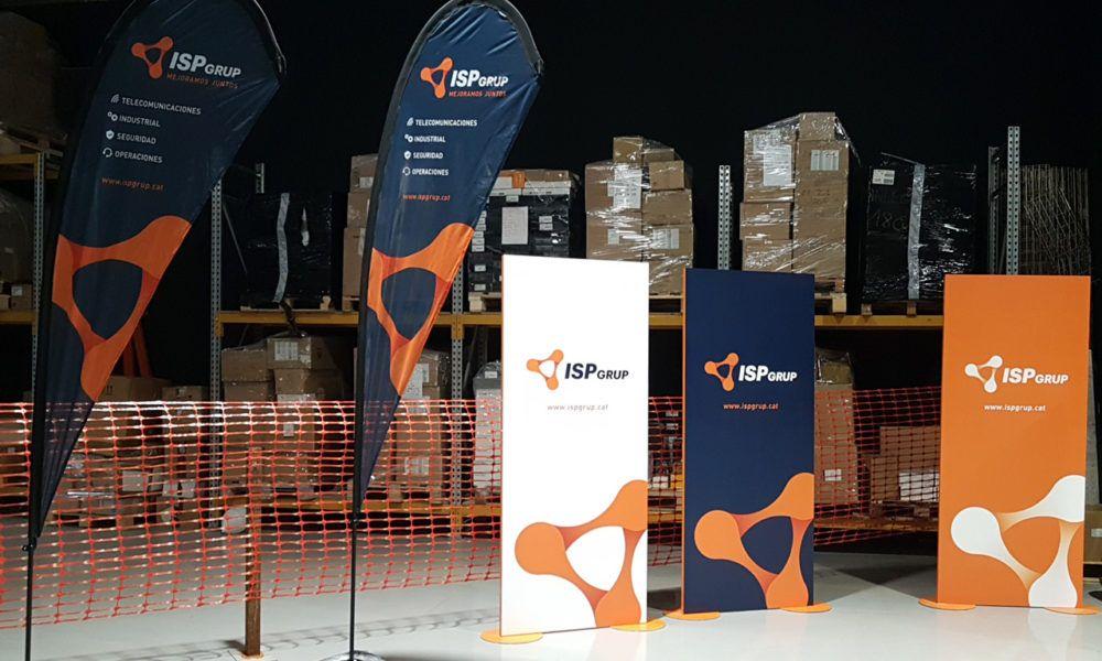 Fly Banners y paneles imagen marca ISP GRUP